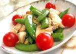 えんどう豆と鶏胸肉の塩炒め