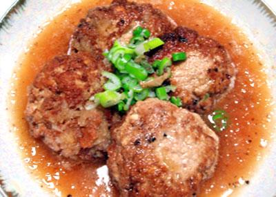 豆腐ハンバーグのおろし煮