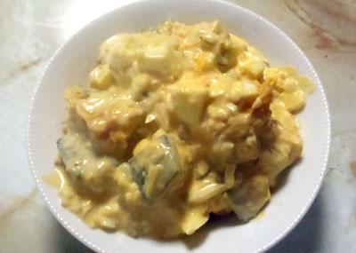 卵とかぼちゃのヨーグルトマヨサラダ