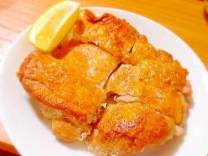 楽天レシピのススメ:パリパリ!チキンステーキ。ガーリックバタ醤油ソース