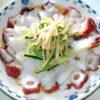 めんつゆと寿司酢で簡単味付け!蛸のさっぱりサラダ♪