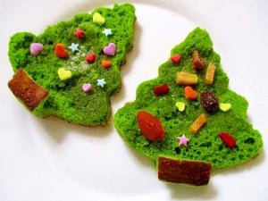 ホットケーキで簡単!クリスマスツリー♪:楽天レシピのススメ