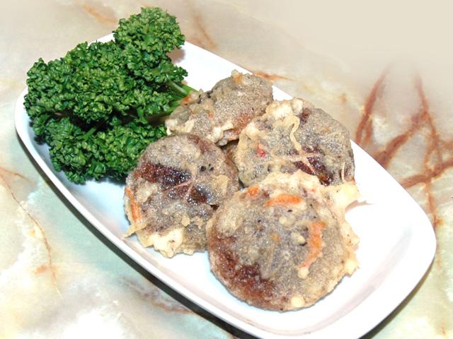 新鮮な椎茸で!プリプリ食感の椎茸の天ぷら♪