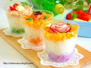 パーティ★お弁当にも カップちらし寿司:楽天レシピのすすめ