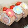 シフォン生地で!ほんのりピンク!春の苺ロールケーキ