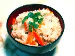 炊飯器で作るから簡単!もち米を使った鶏モモおこわ♪