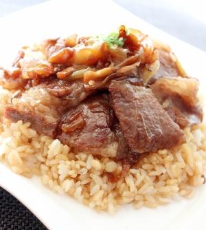楽天レシピのすすめ:うちの男子ごはん☆ガーリックバター醤油のビーフ炒飯