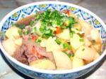 牛コマ肉と鍋一つで完結!牛コマと根菜の甘辛煮♪