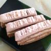 甘さ控えめ!シフォン生地のチョコバナナ3段ケーキ♪