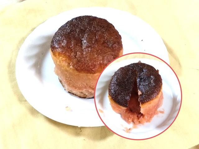 バレンタイン★苺チョコのフォンダンショコラ風ケーキ