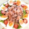 ゆで卵とレタスで!牛バラのしゃぶしゃぶ風サラダ♪