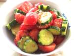 夏野菜のごま和え!トマトときゅうりのごま風味サラダ
