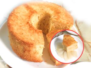 和梨たっぷり!シンプルな梨のシフォンケーキ♪